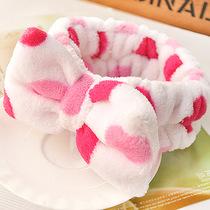 可爱卖萌小清新日式束发带蝴蝶结点点洗脸化妆束发巾发箍包头巾45 价格:7.80