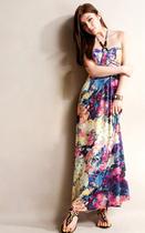 1765 2013新款甜美绑带波希米亚风V领度假连衣裙 修身沙滩长裙 价格:34.00