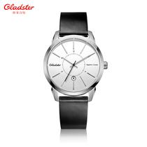 格莱诗特手表 超薄石英表手表真皮带时尚韩版防水表男士手表 男表 价格:399.60