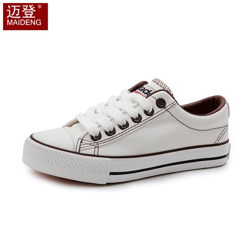 2013新款 情侣帆布鞋 韩版学院风学生鞋系带板鞋 透气女鞋潮包邮 价格:29.00