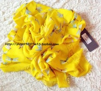 欧洲AlexanderMcqueen MCQ 13限量 黄色骷髅+蜻蜓 羊绒丝巾 多色 价格:3515.00