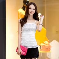 以为正品 2013新款 女 时尚OL 修身亮片吊带 小吊带背心YWD520 价格:109.85