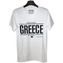 2013新款zarakhor 男t恤 GREECE 字母 男士修身短袖T恤 特价促销 价格:78.00