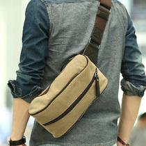 韩版潮流时尚胸包 男 男士背包 帆布休闲包 腰包 男包 单肩包 男 价格:39.00
