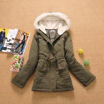女装冬装2012羽绒薄棉衣服女装短款清仓韩版保暖连帽羊羔绒毛领 价格:48.00