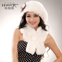 哈珀琪 新款獭兔毛皮草帽子贝雷帽女士帽子韩版冬季帽保暖休闲帽 价格:138.60