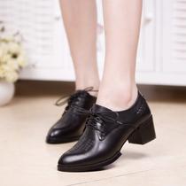 复古英伦皮鞋2013新款坡跟方根鞋女中跟单鞋秋鞋布洛克女鞋真皮 价格:152.00