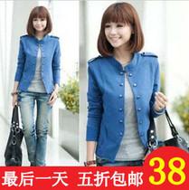 秋装外套 韩版女装百搭修身立领小外套双排扣长袖短外套 春秋新款 价格:27.80
