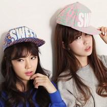 韩版夏天sweet糖果色棒球帽子女潮嘻哈街舞帽荧光色 平沿帽 价格:28.00