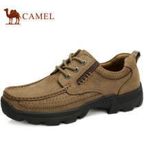 CAMEL骆驼男鞋 2013专柜真皮磨砂皮低帮鞋男士休闲鞋单鞋子男潮鞋 价格:359.00