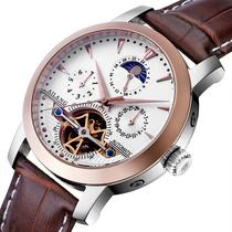 瑞士艾浪陀飞轮三眼机械手表男表手皮带正品防水全自动机械表手表 价格:499.00