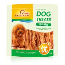 宠物零食狗零食泰迪狗零食狗狗磨牙棒磨牙咬胶路斯鸡肉硬丝400g 价格:45.00