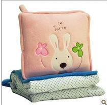 卡通砂糖兔空调被抱枕儿童被生日礼物毛绒流氓兔毯办公室两用pp棉 价格:55.00