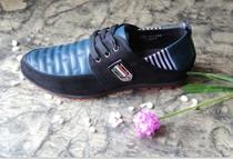 法国啄木鸟头层皮真皮皮鞋男士夏季休闲鞋男鞋子透气单鞋运动时尚 价格:243.00