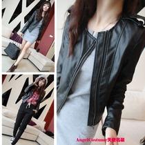 特价包邮2013秋装新款韩版女士机车PU皮衣女短款修身小外套皮夹克 价格:79.00
