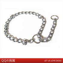 优质不锈钢链条大狗项圈 大型犬P字链 控制链 牵引狗链配套使用 价格:19.80