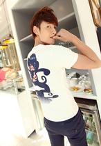 新款2013夏装 奔跑悟空 前后印花 韩版短袖T恤TEE 男装短袖T特价 价格:18.80