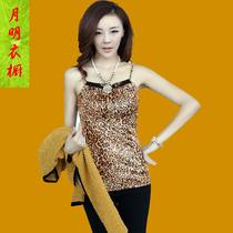 2013秋季新款女款吊带背心 修身豹纹吊带打底 大码百搭吊带打底衫 价格:46.00