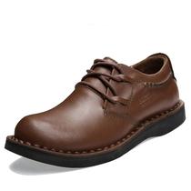 新款骆驼男鞋真皮头层皮商务皮鞋低帮日常休闲鞋圆头大头板鞋男鞋 价格:109.50