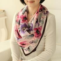 RGLT丝巾 桑蚕丝 正品 欧洲油画真丝长款丝巾 女士围巾印花大方巾 价格:69.00