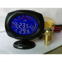 汽车仪表改装 一叶 液晶数显水温表+电压表2合1 价格:53.00