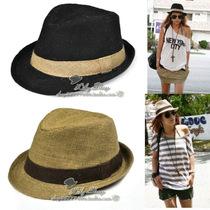 英伦风礼帽爵士帽太阳帽男士帽子女士帽子夏天韩版草帽潮帽嘻哈帽 价格:25.00