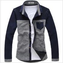 2013春秋季男装正品新款马克华菲长袖衬衫森马外套杰克琼斯衬衣 价格:89.60
