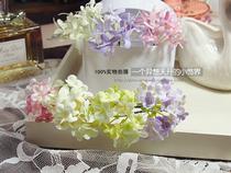 小清新。缤纷小花簇发插发簪U型夹。新娘拍照盘头写真度假。 价格:3.00