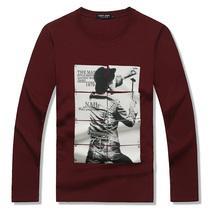 托米琼斯韩版品牌t恤男长袖 青少年个性潮牌T恤 夏装纯棉圆领衣服 价格:59.00