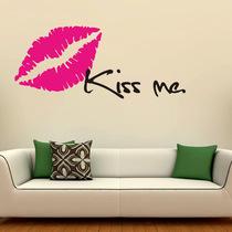 包邮口红 唇印KISSME墙纸卧室浪漫电视墙墙贴客厅壁贴纸墙贴画031 价格:12.00