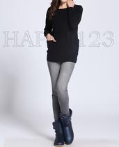 秋促!时尚的肩膀拉链长款纯羊绒针织衫4色【快乐家】 价格:377.00