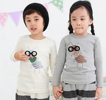 韩国童装代购2013秋BNT男女童可爱小小蚂蚁长袖T恤打底衫5-15码 价格:102.00
