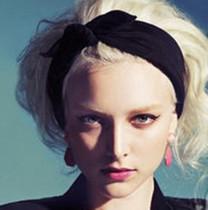 韩国进口加宽新款兔耳朵发带 欧美复古发箍 头巾 瑜伽运动头带 价格:28.00
