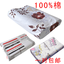 全棉太空记忆枕枕套纯棉双人慢回弹保健枕头套50*30定做一对包邮 价格:25.00
