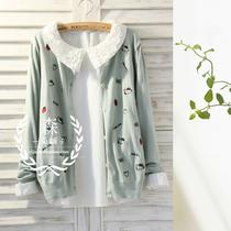 猫咪记,刺绣针织开衫森林系森女3色0.19kg yz1924 价格:68.00