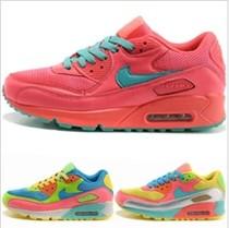 耐克 女鞋男鞋Air Max 90情侣款七彩气垫跑步鞋运动鞋 455586-991 价格:268.00