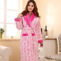 冬季性感三层特厚超柔剪绒夹棉花睡袍冬季女睡袍浴袍都市丽人艾格 价格:149.00