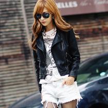 橡菲2013秋装新款时尚百搭立领修身短款PU女皮衣外套31G3909 价格:198.00