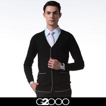 正品G2000职业正装商务休闲修身开襟开衫V领男士长袖羊毛针织衫 价格:248.00