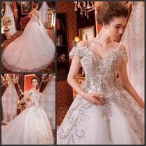 婚纱礼服2013新款超闪性感婚纱韩式韩版绑带新娘拖尾婚纱xj459500 价格:1399.30