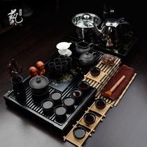 紫砂茶具套装特价包邮四合一电磁炉整套陶瓷定窑功夫茶具实木茶盘 价格:233.75