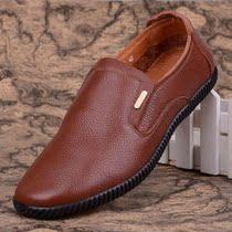 2013新款骆驼名仕男鞋 商务休闲软皮软面懒人套脚头层牛皮鞋 价格:199.00