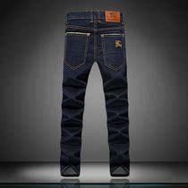burberry高品质男式深蓝色休闲牛仔裤 巴宝利男韩版修身牛仔长裤 价格:195.00