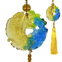 海纳礼品古法琉璃连年有余车挂汽车饰品家居摆饰黄穗 价格:85.00