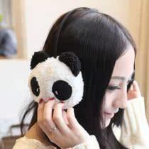 卡通熊猫毛绒耳套 可爱 超大耳包韩国护耳捂保暖仿兔毛耳罩耳罩55 价格:4.62