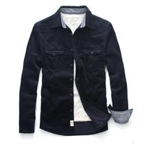 棉先生 秋季重磅男装 男士灯芯绒衬衫男 长袖修身休闲衬衫衬衣 男 价格:138.00