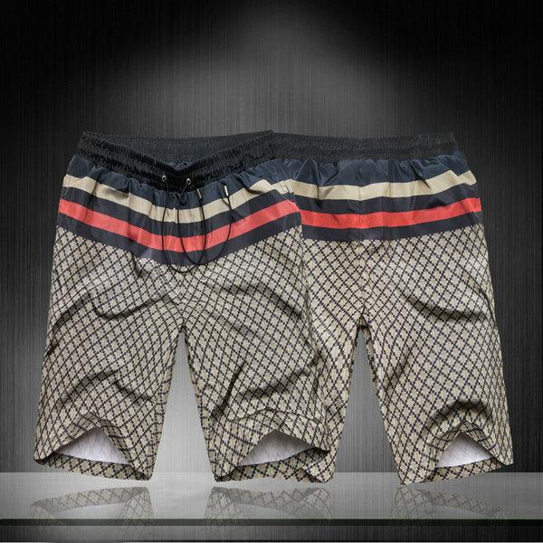 Gucci/古奇短裤男2013新款男装古驰男士休闲中裤夏季沙滩裤短裤 价格:78.00