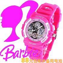 正品芭比手表 女童 双机芯数字防水学生夜光电子手表 闹钟儿童表 价格:88.00