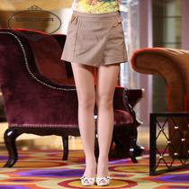 芭蒂娜2013秋新款休闲短裤 时尚裤裙 皮质装饰 专柜正品B219145 价格:287.68