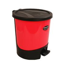 飞达三和圆型脚踏垃圾桶家用卫生间厨房垃圾桶 塑料卫生桶收纳桶 价格:39.80